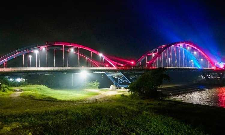 Jembatan Water Front City Bangkinang