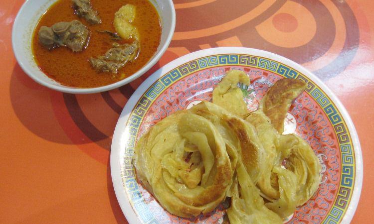 Roti Cane Kuah Kari Aceh