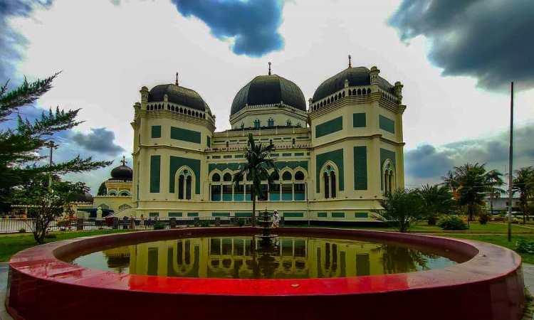Struktur Bangunan Masjid Al Mashun Medan