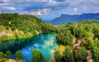 Danau Biru Sawahlunto, Danau Eksotis Bekas Galian Tambang