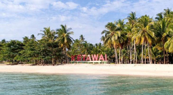 Pulau Ketawai, Pesona Pulau Pasir Putih Eksotis di Bangka Tengah